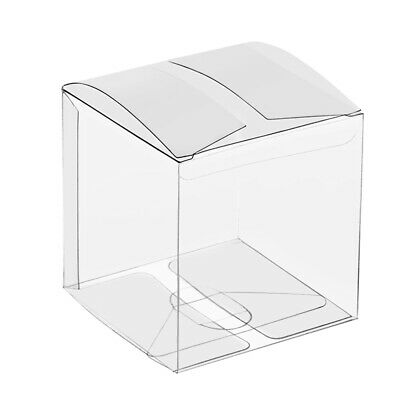 50Pcs Clear PVC Plastic Candy Boxes Favor Gift Cupcakes Wrapper Birthday Party