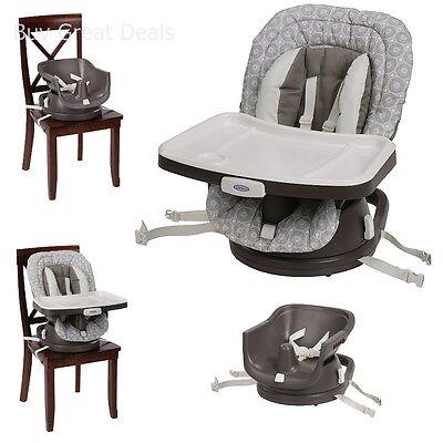 Graco SwiviSeat 3-in-1 High Chair Booster Seat, Abbington