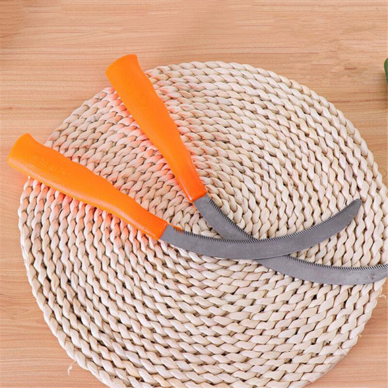 2 PCS Portable Sickle Alloy Steel Tooth Agriculture Yard Farm Grass Cutter