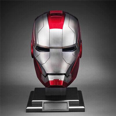 Cosplay Iron Man 1:1 Wearable MK5 Helmet Voice-controlled Deformed Halloween