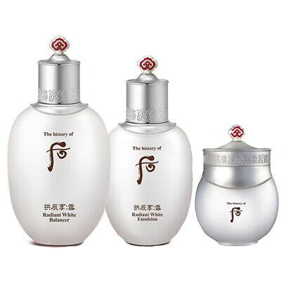 The History of Whoo Radiant White Balancer Emulsion Moisture Cream SET K-Beauty