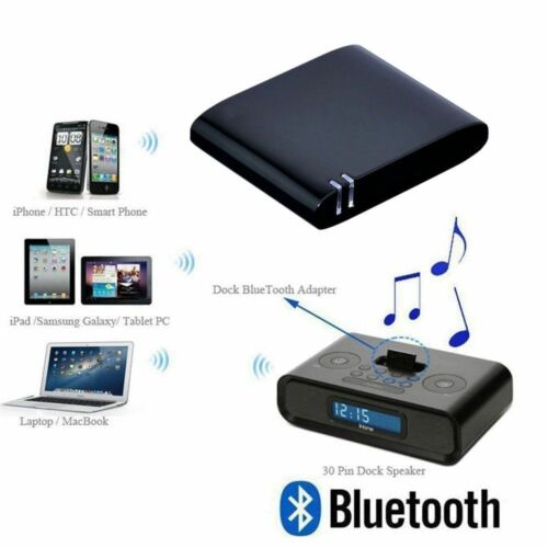 Bluetooth A2DP Music Audio 30Pin Receiver Adapter For Soundd