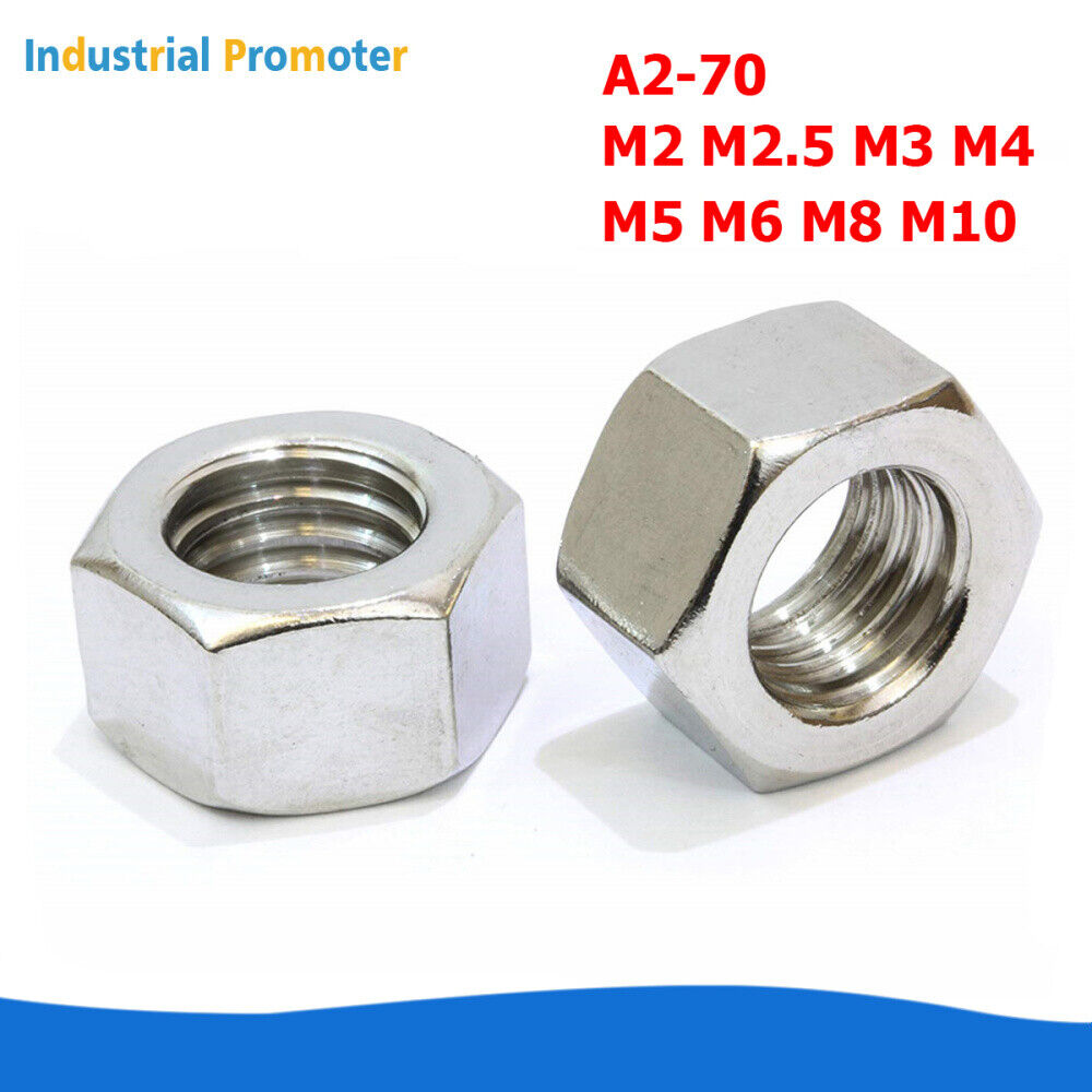New PACK OF 20 M8 A2-70 STAINLESS STEEL NUTS