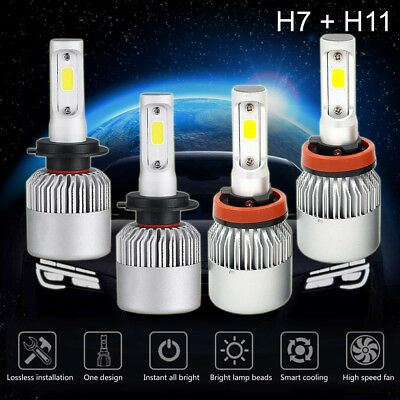 4 Bulbs Kit 3910W 586500LM H7 + H11 6000K Combo CREE LED Headlight High Low Beam for sale  Hebron