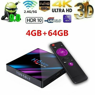 H96 Max RK3318 4+64GB Android 9.0 Smart TV Box Quad Core WIFI 4K Media Player DE