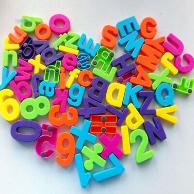 Set Of 26 Colorful Teaching Magnetic Numbers Fridge Magnets Alphabet Kids Toys