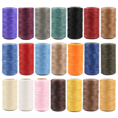 260M Flat Waxed Thread 150D 0.8mm Polyester Cord For Leather Sewing Stitch Craft
