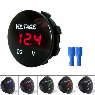 Mini 12v-24v Led Panel Digital Voltage Meter Display Voltmeter Motorcycle Car