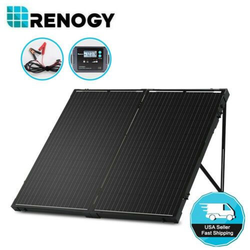 Open Box Renogy 200W 12V Mono Folding Solar Panel Suitcase Battery Charger