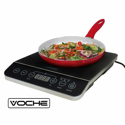 VOCHE 2000W ELECTRIC DIGITAL INDUCTION HOB HOT PLATE - 10 TEMP SETTINGS + TIMER
