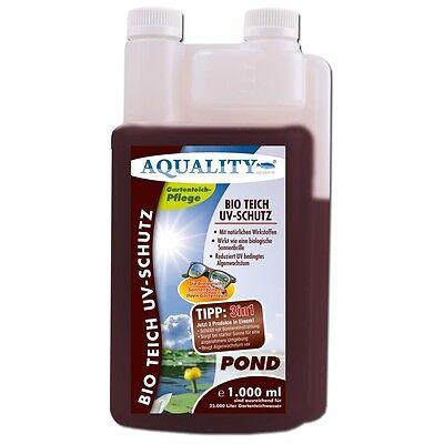 (13,50€/l)AQUALITY BIO Teich UV-Schutz 1 Ltr die Sonnenbrille bei Algen im Teich