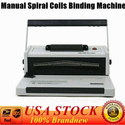 S20a Manual Spiral Single Coil Binding Machine Metal Spiral Coil Paper Binder Us