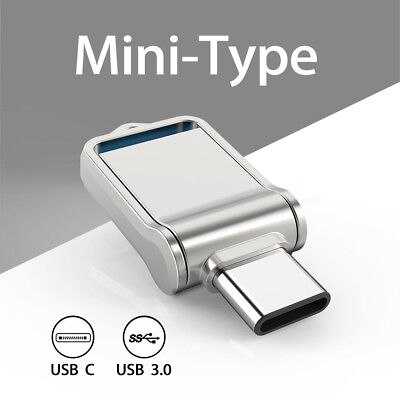 - 64G Type C Ultra Dual USB3.0 Flash Drive Mini Memory Stick Thumbdrive Waterproof