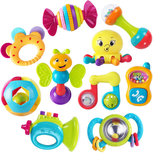 10pcs Baby Rattles Teether, baby toys,infant toys,newborn to