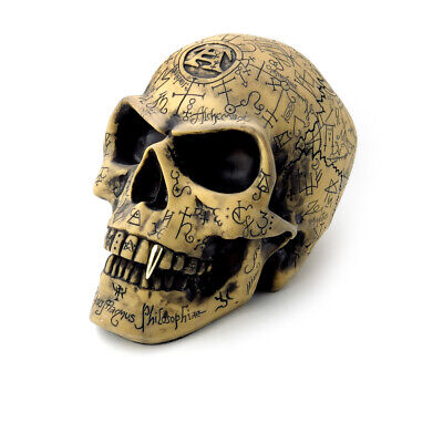 Chemistry Halloween Decorations (Alchemy of England Gothic Omega Skull Vampire Halloween Occult Statue Decor)