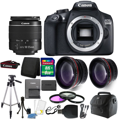 Canon EOS 1300D/T6 18MP DSLR Camera + 18-55mm Lens + Accesso
