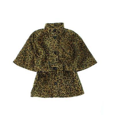 (Betsey Johnson Animal Print Brown Lined Velvet Coat Size Medium NWT $168)