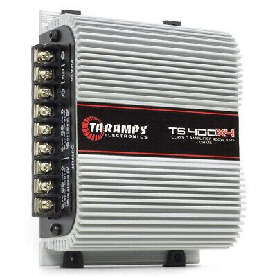TARAMPS TS400x4 4 CHANNELS 2 OHMS 400 WATTS AMPLIFIER USA DEALER