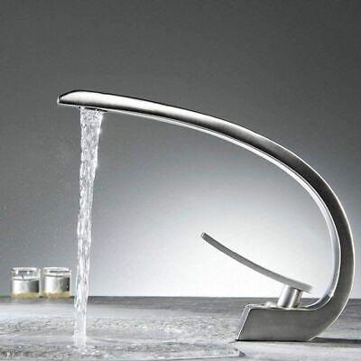 moderno rubinetto bagno cascata ottone Monocomando Miscelatore per Lavabo