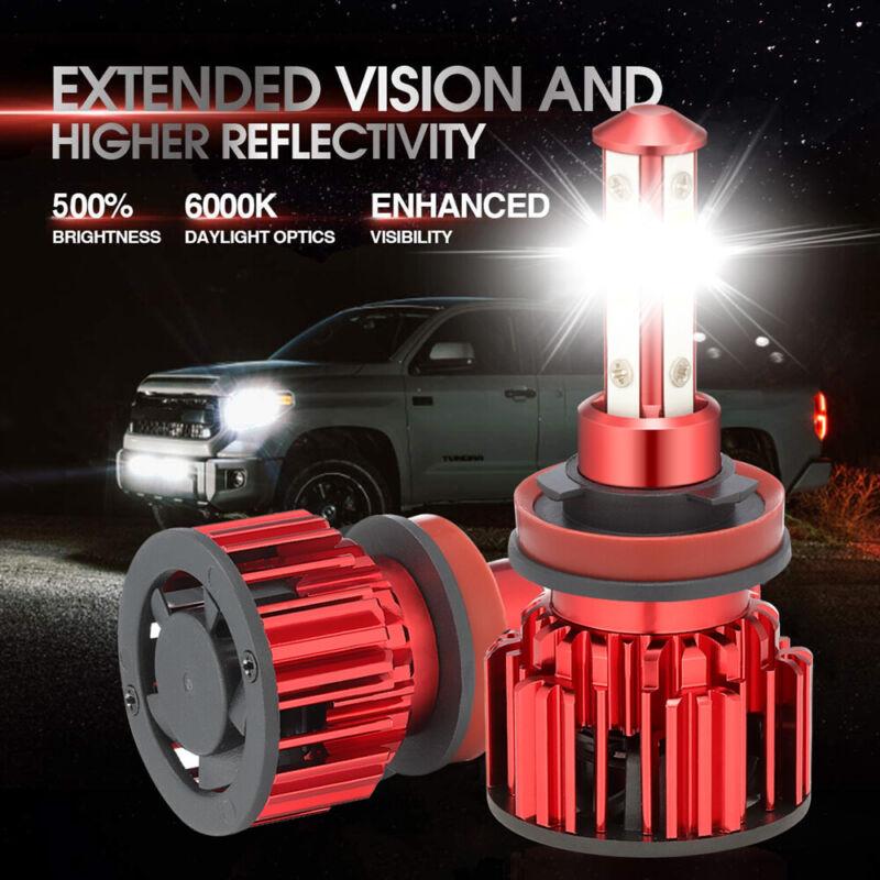 4SIDE H11 H8 H9 LED Headlight Kits Bulbs High Power 6000K Low Beam 220W 32000LM