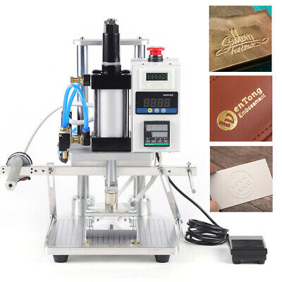80100mm Pneumatic Hot Foil Stamping Machine Logo Leather Wood Stamper 500w