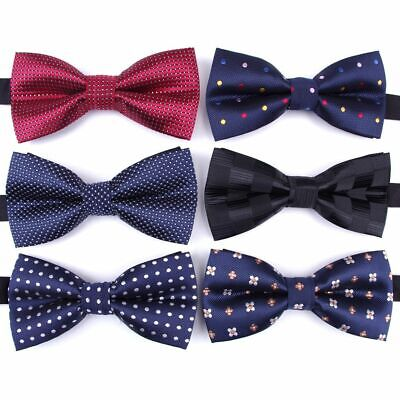 Men's Formal Bow Tie Striped Polyester Neck Ties High Quality Neck Wear For Boys Boys Bow Tie