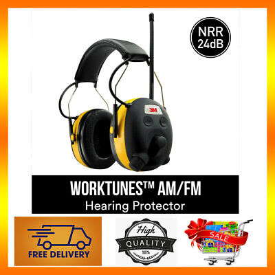 3m Worktune Earmuffs Wbluetooth Amfm Radiomp3 Noise Reduction Rating Of 24 Db