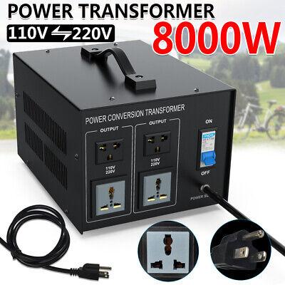 8000W Power Voltage Transformer Converter Heavy Duty Step Up/Down 220V To 110V