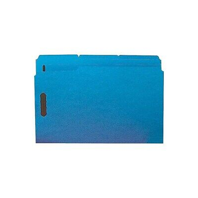 Staples Colored Reinforced File Folders 3-tab Legal Size Blue 50bx 807778