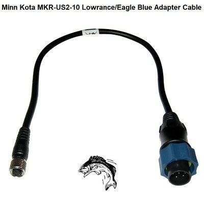 - Minn Kota MKR-US2-10 Lowrance/Eagle Blue Adapter Cable (28457)