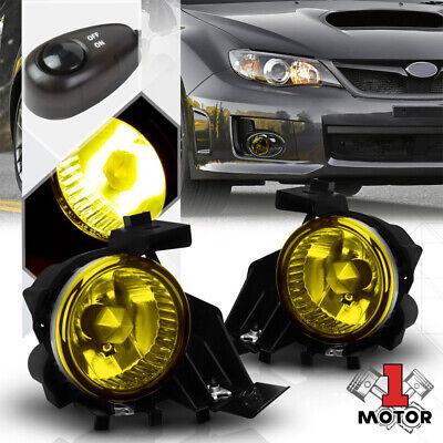 Yellow Fog Light Bumper Lamp w/Switch+Harness+Bezel for 08-11 Subaru Impreza/WRX for sale  Shipping to Canada