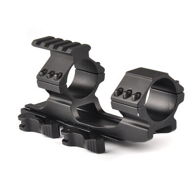 Tactical 25.4mm 30mm double ring HeavyDuty Cantilever Scope Mount QD Weaver