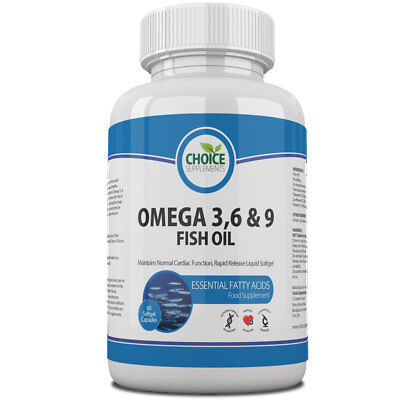 Omega-3 6 9 Fish Oil Concentrate 1000mg - High Strength EPA DHA - Free Delivery Dha Fish Oil Concentrate