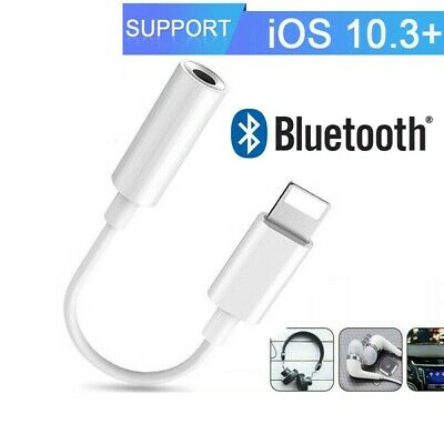 Bluetooth Lightening To 3.5mm Jack Audio AUX Adapter Cable For iPhone 6 7 8 X XS