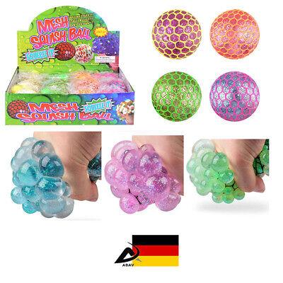 Glitzer LED Quetschball Netzball Antistress Ball Knetball Knautsch Ball HEN51504