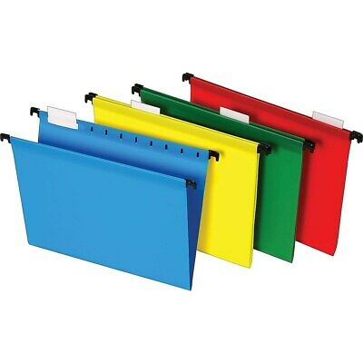 Staples Poly Hanging File Folders 5-tab Letter Size Assorted Colors 20bx 645587