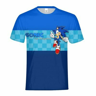 Cute The Hedgehog Sonic Kids Casual T-Shirt Children Short Sleeve Shirt Gifts - Hedgehog Kids