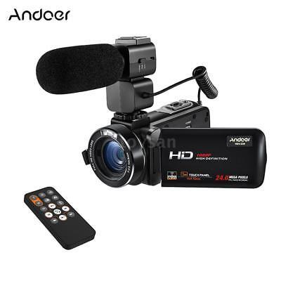 Andoer HDV-Z20 WiFi HD 1080P 24MP 3 LCD Digital Video Kamera Camcorder DV & MIC