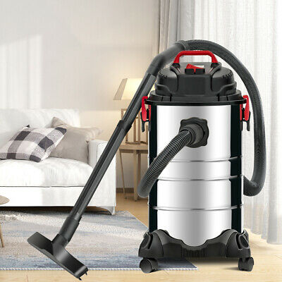 8 Gallon 4-in-1 Wet Dry Vacuum Cleaner Vac Shop 3.5 Hp Stainless Steel Silver