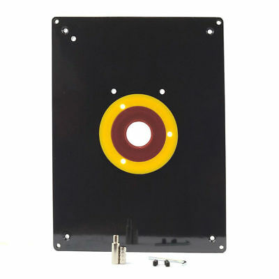 Ebay n romn cumprturi n strintate compar preurile n new router table insert plate 235 x 305 x 8mm with rings for woodworking greentooth Choice Image