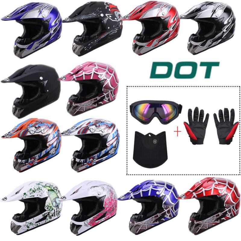 Adult Dot Helmet Full Face Motocross Atv Utv Dirt Bike