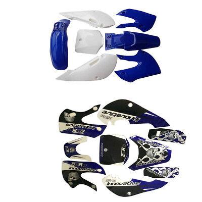 7Pcs Plastics Kits+Sticker Graphics for Kawasaki KLX110 DRZ110 Atomik Dirt Bike