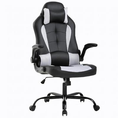 Gaming Office Chair, High-Back PU Leather Racing Chair, Reclining Computer Chair High Back Recliner