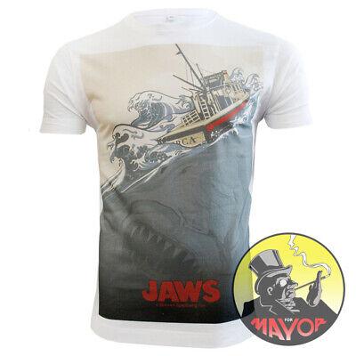 Premium Quality Retro Classic JAWS Inspired Mens Womens Unisex Organic T-Shirt