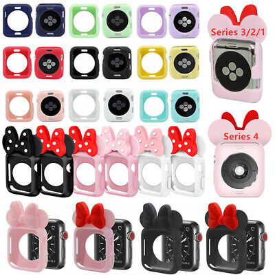 Cute Minnie For Apple Watch iwatch Silicone Series 4 3 2 1 Case Cover 38mm/44mm Cute Apple