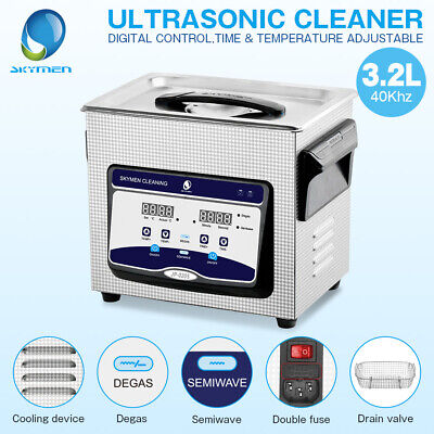 110v Digital Ultrasonic Cleaner 3l Heat Timer Degas Jewelry Circuit Board Parts