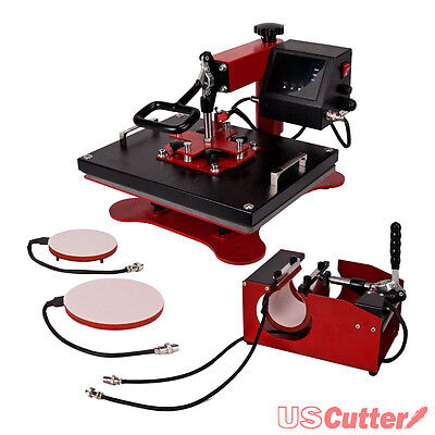 5in1 Heat Press Machine Digital Transfer Sublimation T-shirt Plate Hat Mugcup