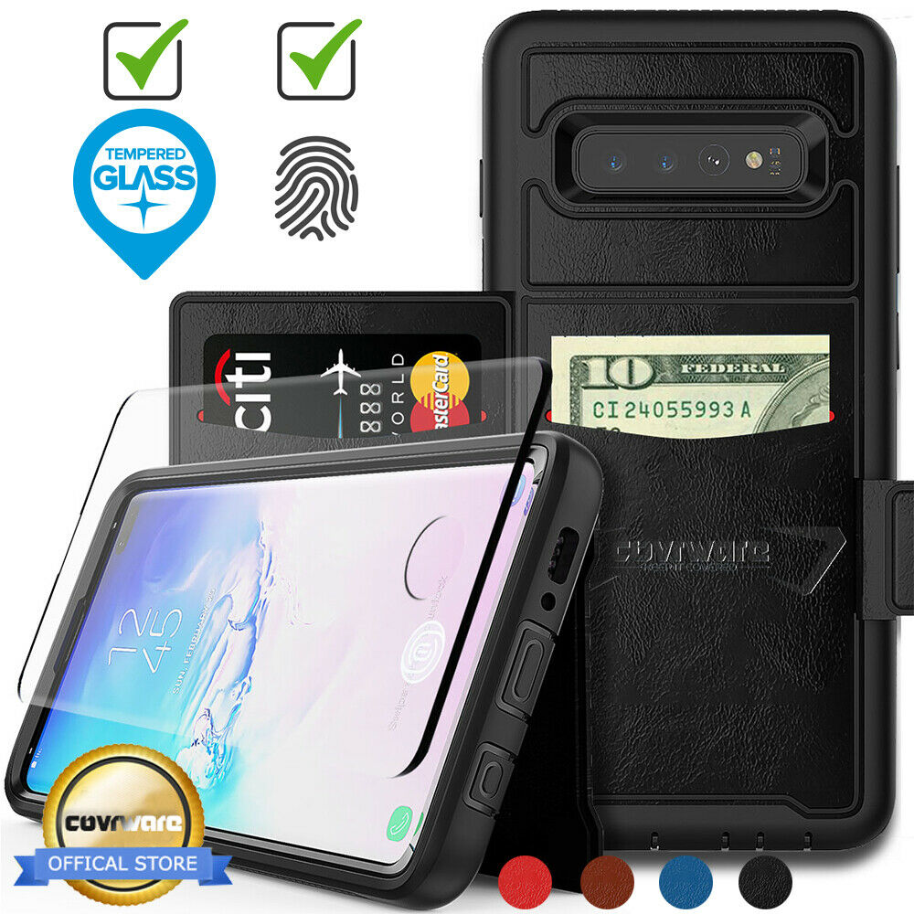 Samsung Galaxy S10 Plus S10 S10E Leather Flip Wallet Card Ph