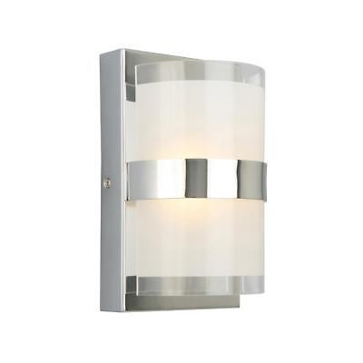Design House Haswell 6-Watt Polished Chrome Integrated LED Wall Sconce Polished Chrome Wall