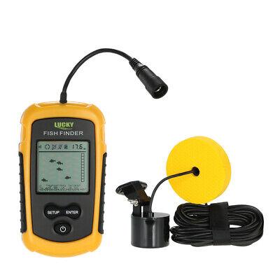 100M Portable Fish Finder LCD Sonar Sensor Alarm Transducer Fishfinder UK M3U3